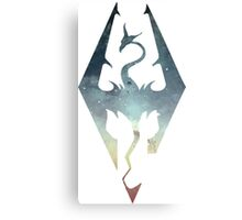 Skyrim Logo - Blue gradient Canvas Print