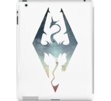 Skyrim Logo - Blue gradient iPad Case/Skin