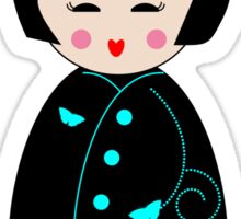Geisha Doll Sticker