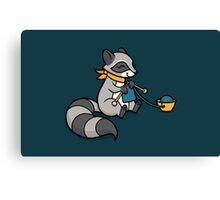 Knitty Raccoon Canvas Print