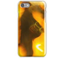 man faces climate change in a cold reality iPhone Case/Skin