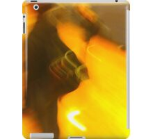 man faces climate change in a cold reality iPad Case/Skin