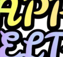 Kappa Delta Sorority Pastel Rainbow Text Sticker