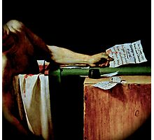 Deathconsciousness - The Death of Marat Photographic Print
