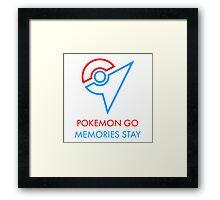 Pokemon Go Memories Stay Framed Print