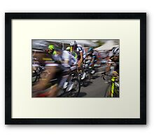 Bicycle race Framed Print