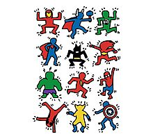 Haring Superheroes Photographic Print
