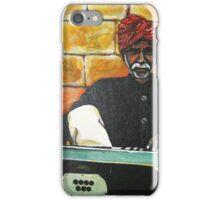 Old Man Playing Harmonium iPhone Case/Skin