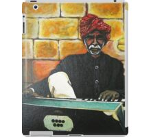 Old Man Playing Harmonium iPad Case/Skin