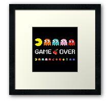 Game Over Framed Print