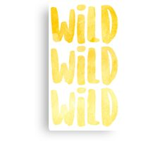 Wild x3 Canvas Print