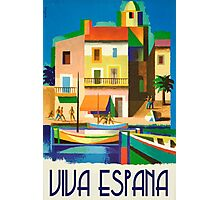 Viva Espana Vintage Travel Poster PD Photographic Print