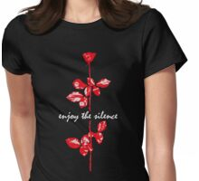 Enjoy The Silence Womens Fitted T-Shirt