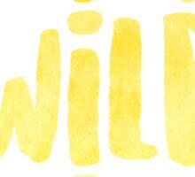 Wild x 3 Sticker