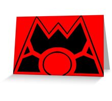 Team Magma (Style A) Greeting Card