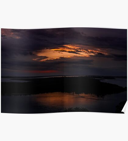 Rigby Island At Sunset Poster