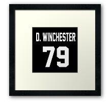 Supernatural Jersey (Dean Winchester) Framed Print
