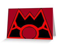 Team Magma (Style B) Greeting Card