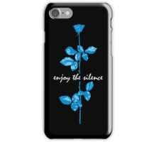 Enjoy The Silence - Blue iPhone Case/Skin
