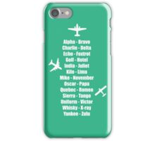 Pilot Phonetic Alphabet Military Cadet Airplanes iPhone Case/Skin