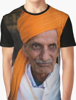 Aged Indian Man Graphic T-Shirt