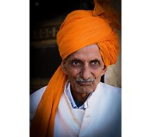Aged Indian Man Photographic Print