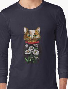 Daisy, Russian doll tattoo style cat Long Sleeve T-Shirt
