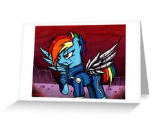Rainbow Dash -war- Greeting Card