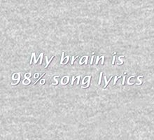 My Brain is 98% Song Lyrics Baby Tee