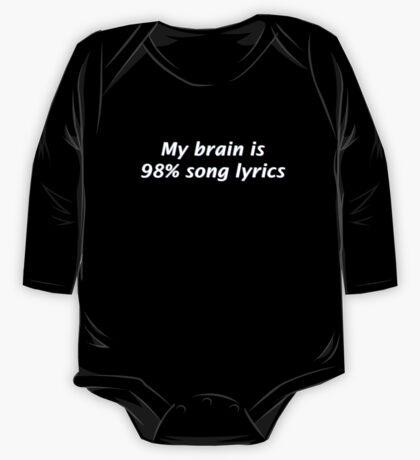 My Brain is 98% Song Lyrics One Piece - Long Sleeve