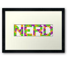 Tetris Nerd Framed Print