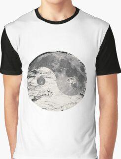 Yin Yang Moon (Black & White) Graphic T-Shirt