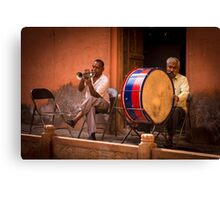 Indian orchestra in the street Canvas Print