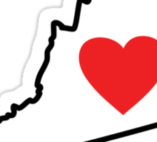 I Love Virginia Sticker