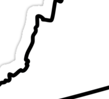 Virginia State Outline Sticker