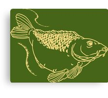 Carp Fishing Angling Fish Scales Illustration Canvas Print