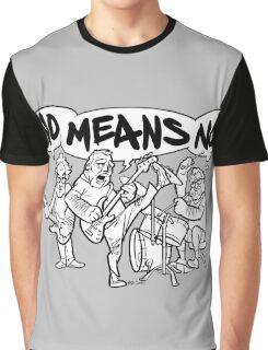 NoMeansNo Cartoon Graphic T-Shirt