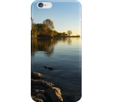Early Morning Gold - Soft Fall Reflections iPhone Case/Skin