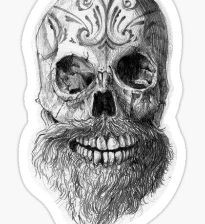 Great Beard Mighty Skull Sticker