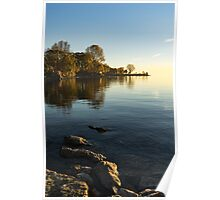 Early Morning Gold - Soft Fall Reflections Poster