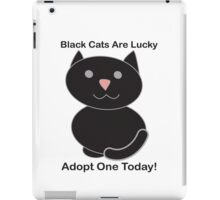 Black Cat Adoption iPad Case/Skin