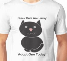 Black Cat Adoption Unisex T-Shirt