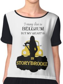 I May Live In Belgium, But My Heary Is in Storybrooke. OUAT. Chiffon Top