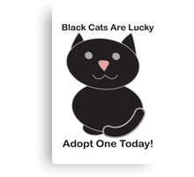 Black Cat Adoption Canvas Print