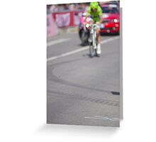 Cyclist on the road Greeting Card