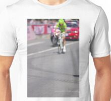 Cyclist on the road Unisex T-Shirt