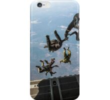 parachute soldiers on airplane iPhone Case/Skin