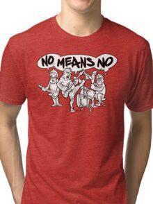 NoMeansNo Cartoon Tri-blend T-Shirt