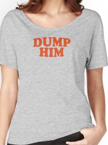 DUMP HIM - Britney Spears mesage tee Women's Relaxed Fit T-Shirt