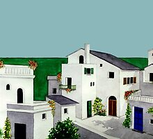 VILLAGE IN GREECE by RainbowArt